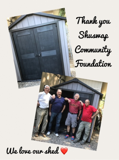 Shed Funded by Shuswap Community Foundation